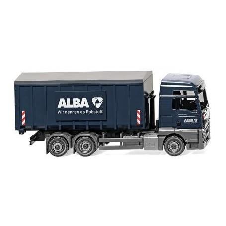 "Wiking 67204 Container transport truck (Meiller/MAN TGX Euro 6) ""Alba"""