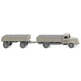 "Wiking 42001 Platform flatbed trailer (Magirus S 3500) ""Basaltschotter"", 1958"
