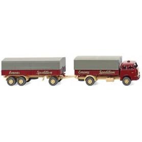 "Wiking 41603 Platform trailer truck (MAN Pausbacke) ""Emons"""