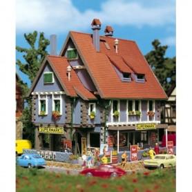 Vollmer 7660 Lantlig supermarket, mått 107 x 83 x 105 mm