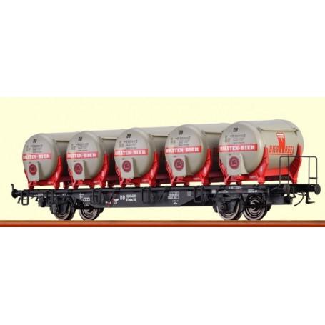 """Brawa 49105 Containervagn Btmms 58 typ DB med Ddikr 621 """"Holsten Bier"""""""