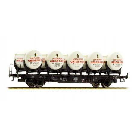 "Brawa 49104 Containervagn Btmms 58 typ DB med Ddikr 621 ""Dortmunder Union Bier"""