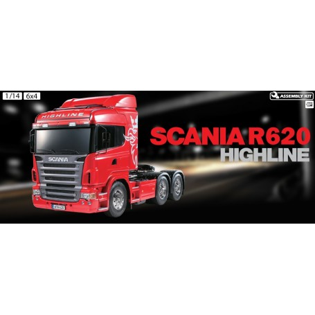 Tamiya 56323 El Scania R620 6x4 Highline EP RTA