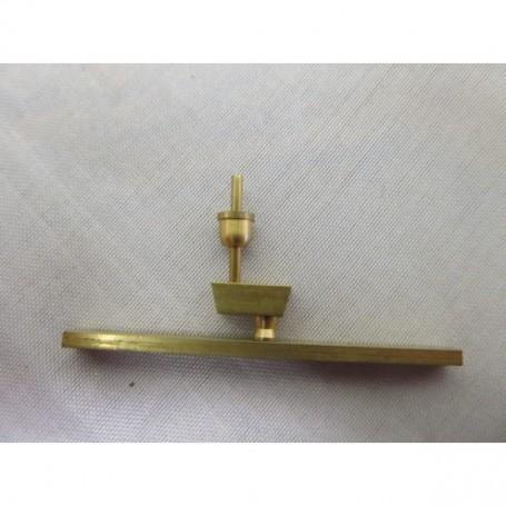 Billing Boats F472 Brass radar receiver. 27x50mm