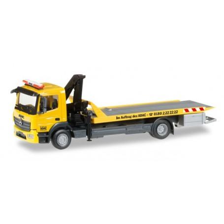 """Herpa 092500 Mercedes Benz Atego `13 wrecker crane with platform """"ADAC"""""""