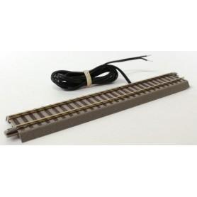 Roco 61110.3 Rak skena G200, längd 200 mm med strömanslutning utan störningskondensator, utan kontakt