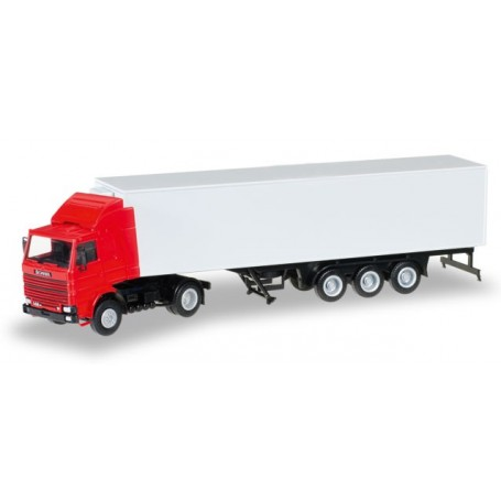 Herpa 012850 Minikit Scania 142 with refrigerated boxtrailer
