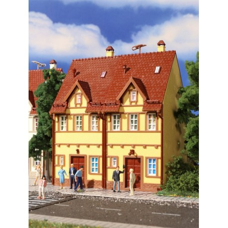 Vollmer 3844 Semi-detached row house, yellow