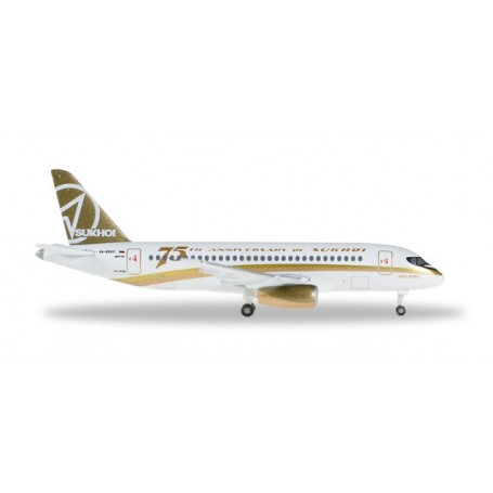 """Herpa 529310 Flygplan Center South Airlines Sukhoi Superjet 100 """"Sukhoi 75th Anniversary"""""""