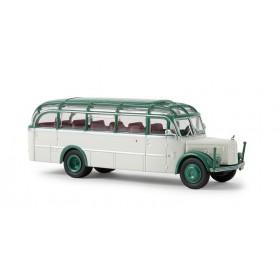 """Brekina 58086 Buss Gräf & Stift 120 OGL """"Glockner Bus"""", gråvit/patinagrön"""