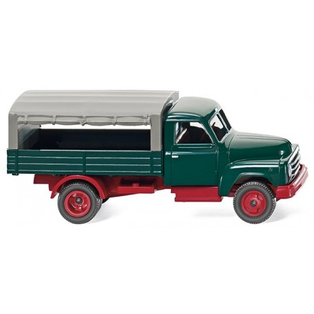 Wiking 34503 Flatbed lorry (Hanomag L 28) - green