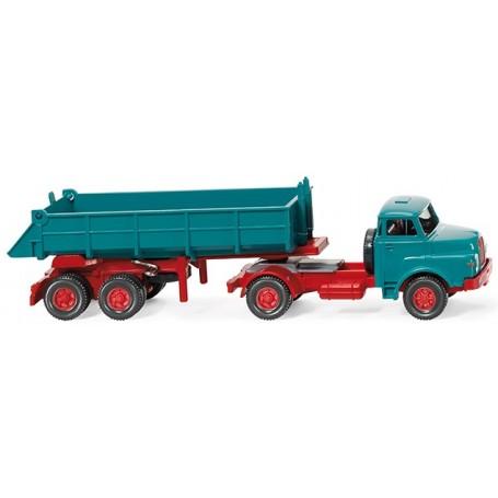 Wiking 67702 Rear tipper lorry (MAN) blue/red