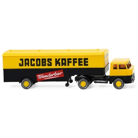 "Wiking 51321 Box lorry (Henschel HS 14/16) ""Jacobs Kaffee"""