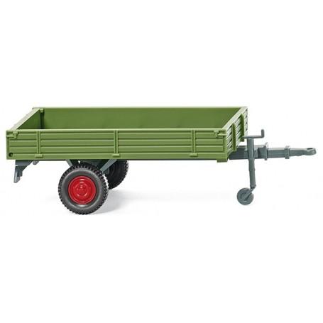 Wiking 88738 Fortuna single axle trailer reseda green