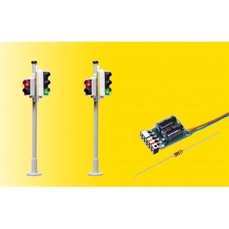 Viessmann 5095 Traffic lights with pedestrian signal and LEDs, 2 pieces