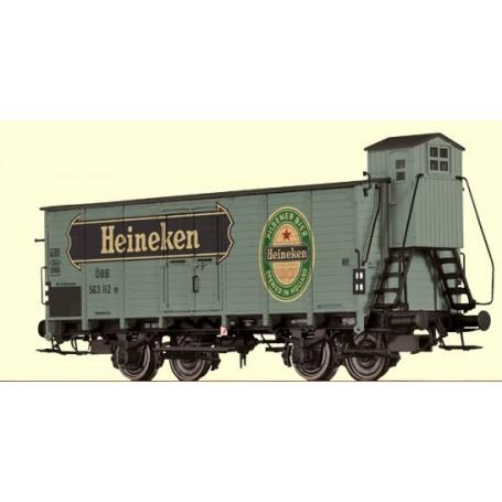 """Brawa 49060 Ölvagn G10 typ ÖBB 563 112 [P] """"Heineken"""""""