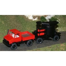 Wiking 40500 Unimog U 140 med asfaltskokare på släp