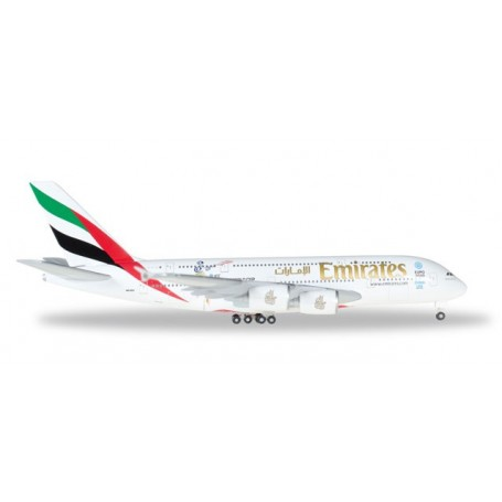 "Herpa 527897.1 Flygplan Emirates Airbus A380 ""Cricket World Cup"""