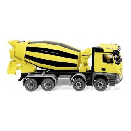 Wiking 68149 Truck mixer - yellow/black (MB Acros/Liebherr)