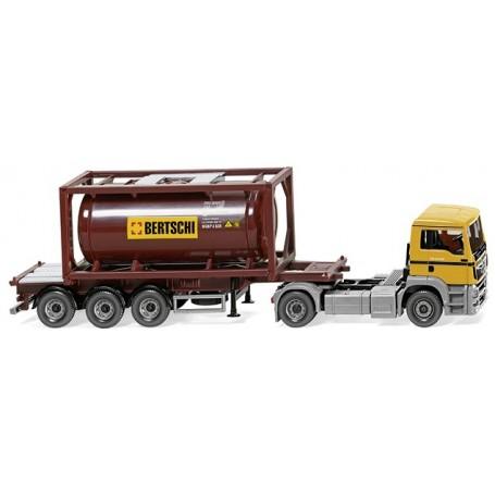 "Wiking 53604 Tank container lorry 20' (MAN TGS Euro 6) ""Bertschi"""