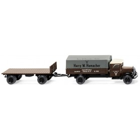 "Wiking 84201 Platform tractor-trailer comb. (MB L 2500) ""Sped. Hamacher"""