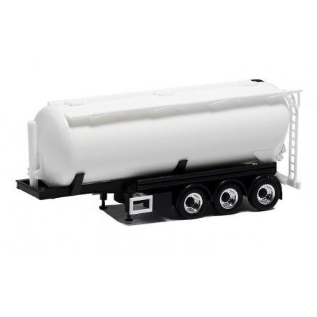 Herpa 650028 Silotrailer 3-axlig, vit med svart chassie, 42cbm