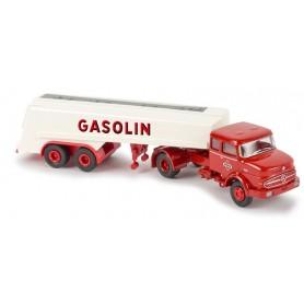 """Brekina 81110 Bil & Tanktrailer MB LS 1620 """"Gasolin"""""""