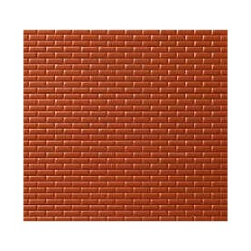 Noch 55004 Murplatta, tegelmur, röd, mått 30 x 18