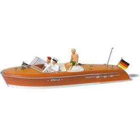Preiser 10688 Motorbåt Riva, med figurer