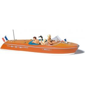Preiser 10689 Motorbåt Riva, med figurer