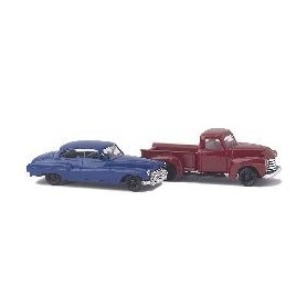 Busch 8320 Chevrolet Pick-up och Buick '50, set med 2 bilar