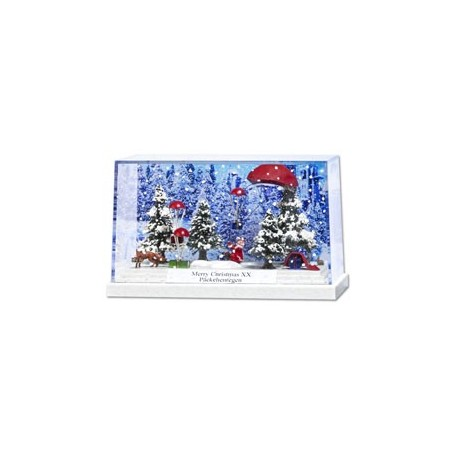 "Busch 7655 Litet diorama ""Merry Christmas XX"". PC-Box"