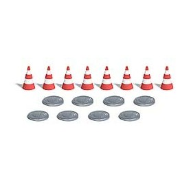 Busch 7788 Hole Covers and Traffic Pylons