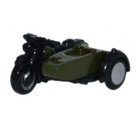 Oxford Models 116351 Motorcycle and Sidecar 34th Armoured Brigade