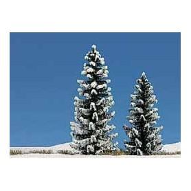 Busch 6152 Granar täckta i snö, 2 st, 90/120 mm höga