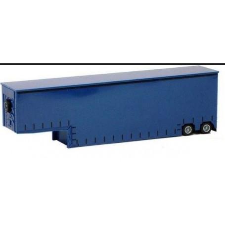 """AMW 90633.1 Tungtransporttrailer, blå """"Meusburger"""""""