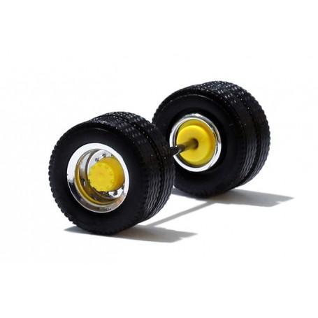 Herpa 690104B Däck/hjulaxel, drivaxel, 1 st, kromad/gul