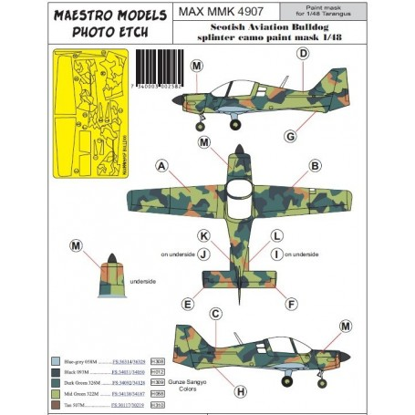 Maestro Models K4907 Sk61 Bulldog splinter camo masking set