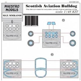 Maestro Models K4908 Scottish Aviation Bulldog canopy & wheel masking set