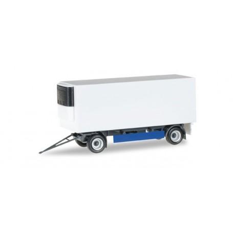 Herpa 076777 Refrigerated-trailer 2-achs, blue/white