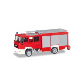 "Herpa 092913 MAN M 2000 fire truck HLF 20 ""fire Department, undecorated"""