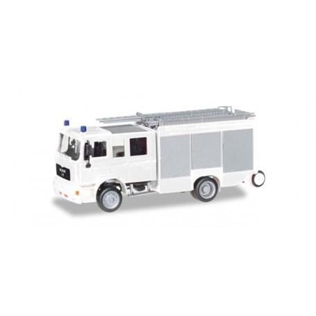 """Herpa 012898 Herpa MiniKit: MAN M2000 fire truck HLF 20 """"fire department"""""""