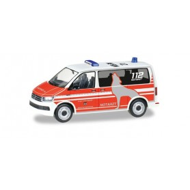 "Herpa 092876 VW T6 Bus ""emergency physician fire Department Wolfsburg"""