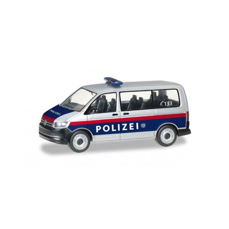 """Herpa 092883 VW T6 Bus """"Police department Austria"""" (A)"""