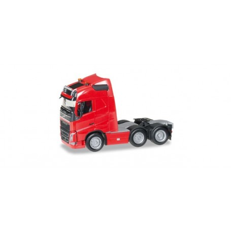 Herpa 305792.2 Volvo FH Gl. 6x2 rigid tractor with headlights and two flashing lights, red