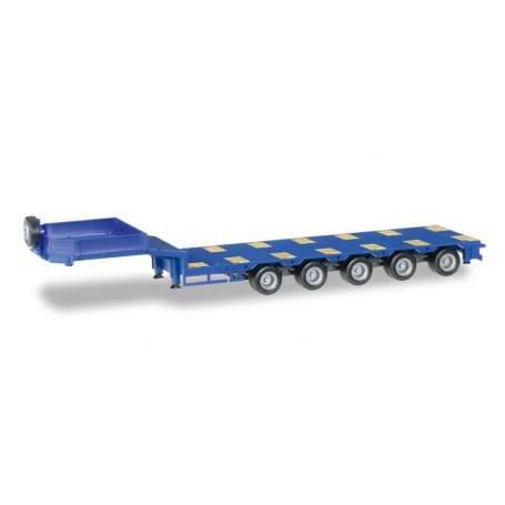 Herpa 076388.6 Goldhofer low boy trailer 5-axle with enclosed chutes, ultramarine blue