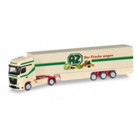 "Herpa 066532 Mercedes-Benz Actros Gigaspace box semitrailer ""AZ Kempen"""