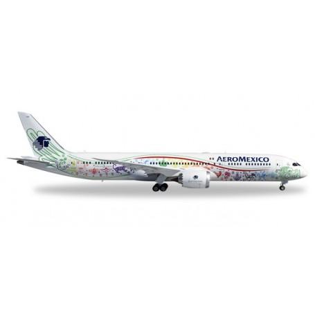 "Herpa 558389 Flygplan Aeromexico Boeing 787-9 Dreamliner ""Quetzalcóatl"""