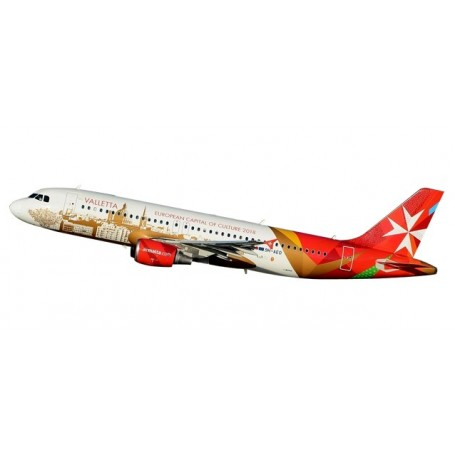 "Herpa 611411 Flygplan Air Malta Airbus A320 ""Valletta"""