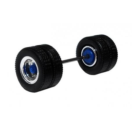 Herpa 690105F Däck/hjulaxel, drivaxel MEDI Hypoid, 1 st, kromad/blå
